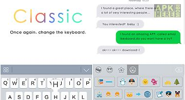 Classic theme emoji keyboard