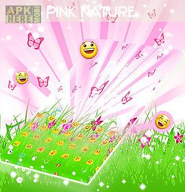 pink nature keyboard