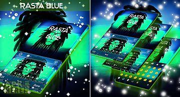 Rasta blue neon keyboard