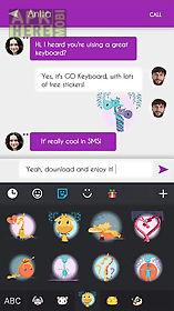 go keyboard giraffe sticker
