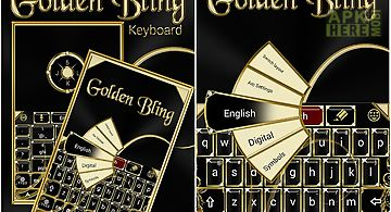 Golden bling keyboard