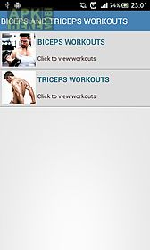 biceps and triceps workouts body