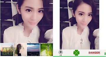 Sticker photo camera