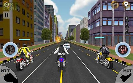 car attack; bike race
