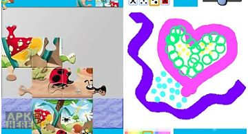 Kids play puzzle paint