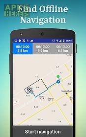 offline gps route & navigation
