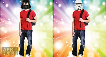 Star space mask photo stickers