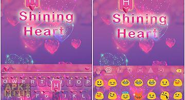 Shining heart emoji ikeyboard