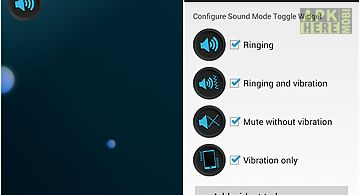 Sound mode toggle widget