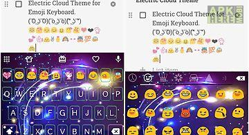 Electric cloud emoji keyboard
