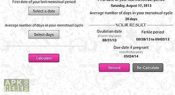 My ovulation calculator