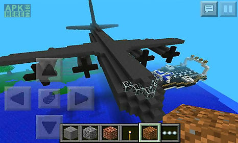 airplane of mine block craft