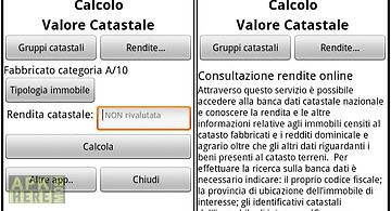 Cadastral value calculation