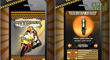City rider extreme bike race