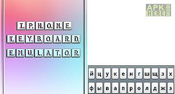Iphone keyboard emulator