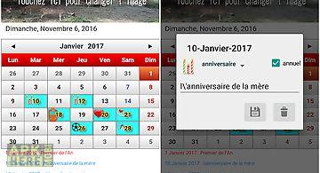 Français calendrier 2016