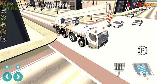 heavy construction crane drive