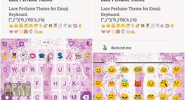 Lace perfume emoji keyboard