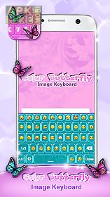 color butterfly image keyboard