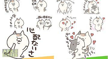 Calico cat stickers free