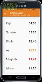 prayer times islamic