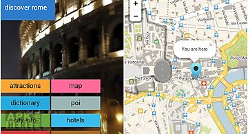 Rome offline map guide hotels