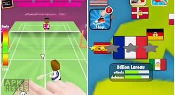 Badminton smash 3d