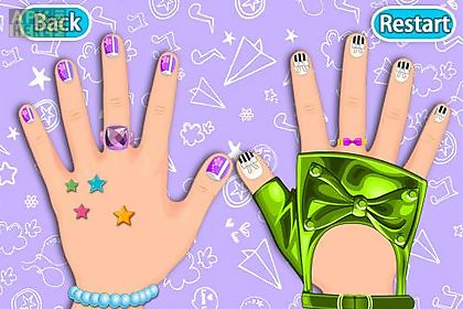 dress up -art nail girls