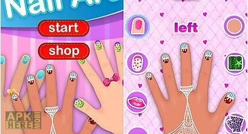 Dress up -art nail girls