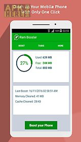 ram booster - cache cleaner