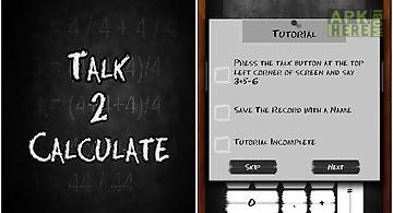 Talk 2 calculate