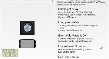 Xposed torch: physical buttons