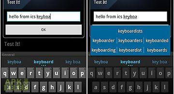 Icecream sandwich-ics keyboard