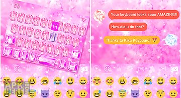 Gold diamond keyboard for Android free download at Apk Here