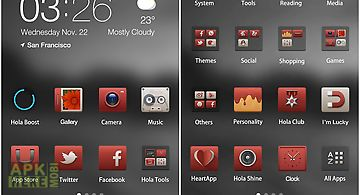 Simple and red hola theme