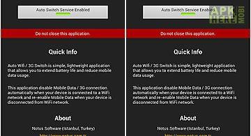 Auto wifi / 3g switch