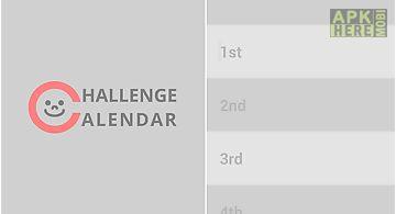 Challenge calendar