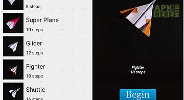 Paper airplanes folding