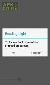 Reading Light App For Android Description: Just A Simple Light App For  Reading Books Etc. It Enables You To Control Screen Brightness With Slider  And Lock ...