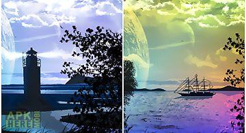 Lake view scene lite