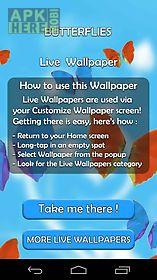 butterflies live 3d wallpaper  live wallpaper