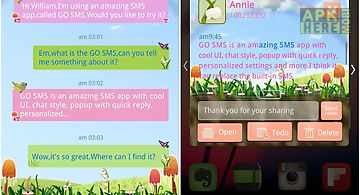 Go sms pro spring superthemeex