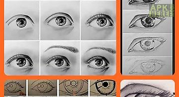 Draw eyes - easy steps